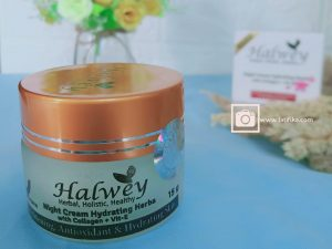 review night cream halwey