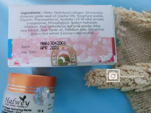 review night cream halwey ingredient