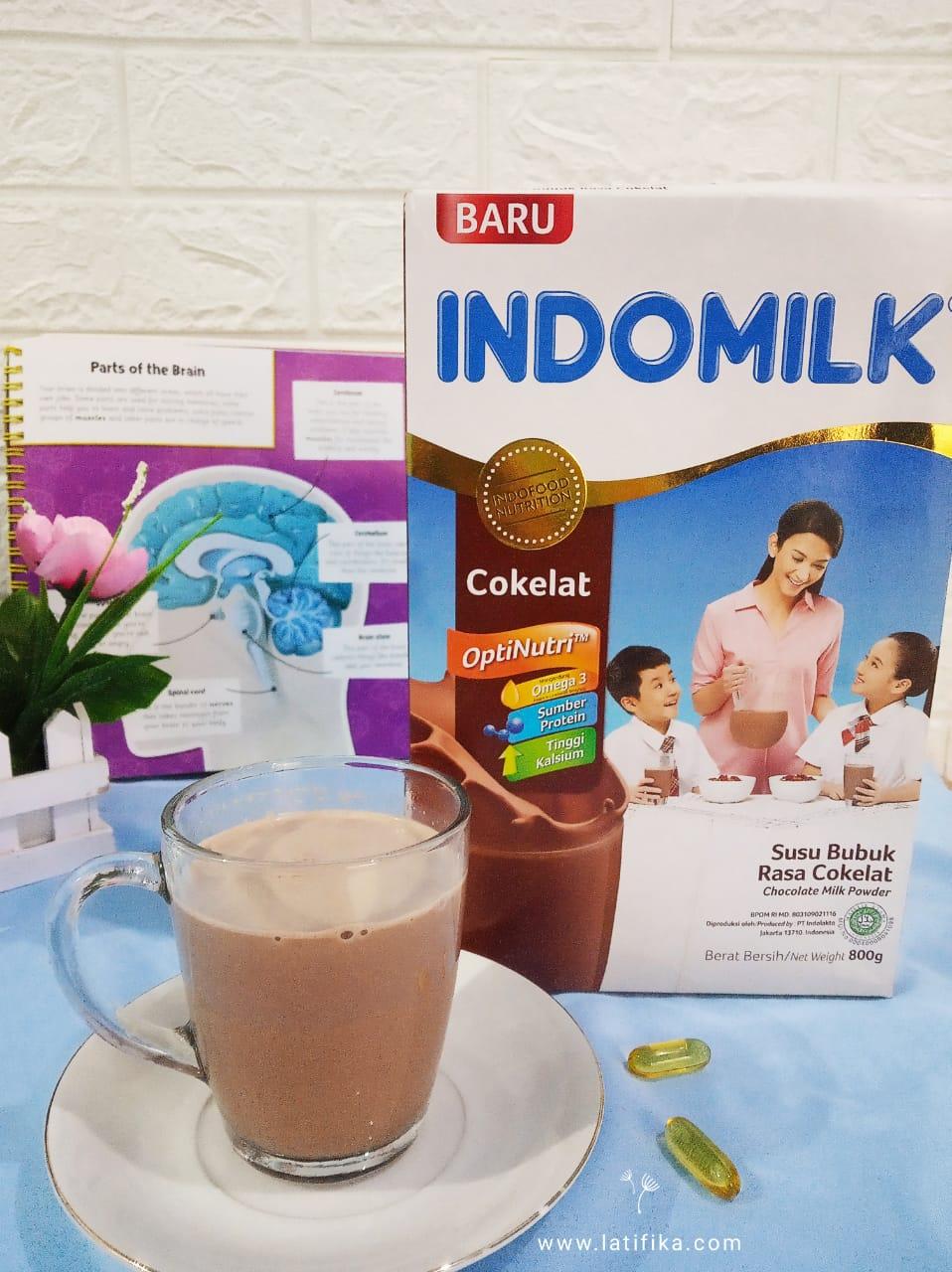 Indomilk susu bubuk cokelat