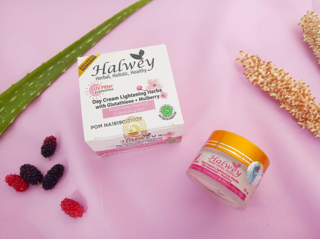 bahan-bahan day cream Halwey